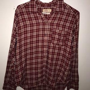 Women's Small - Button Down Shirt - HOLLISTER